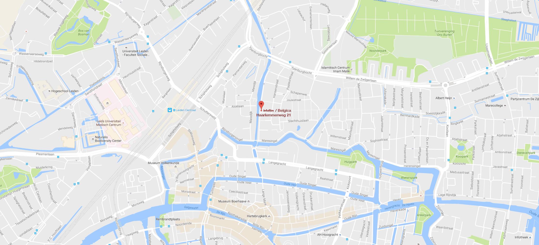 Ligging van Belgica vergaderruimte op Google map
