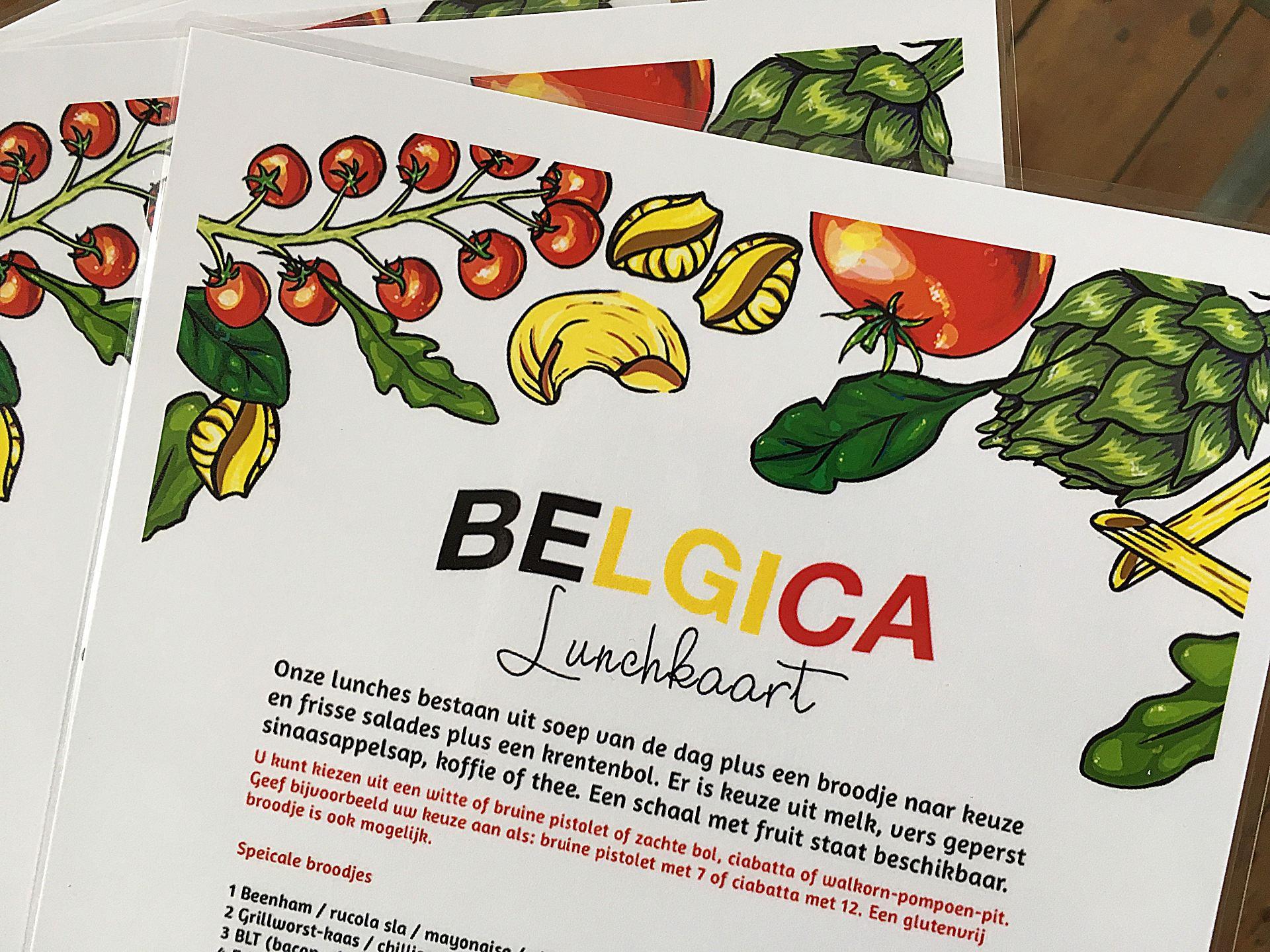 lunch kaart Belgica