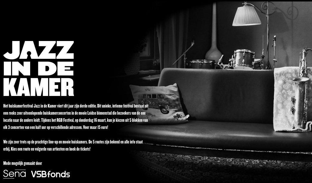 Jazz in de kamer bij Belgica